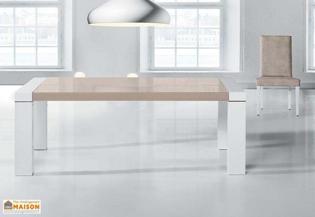 Table de Salle à Manger Extensible 140/230x90cm en Hêtre Massif ...