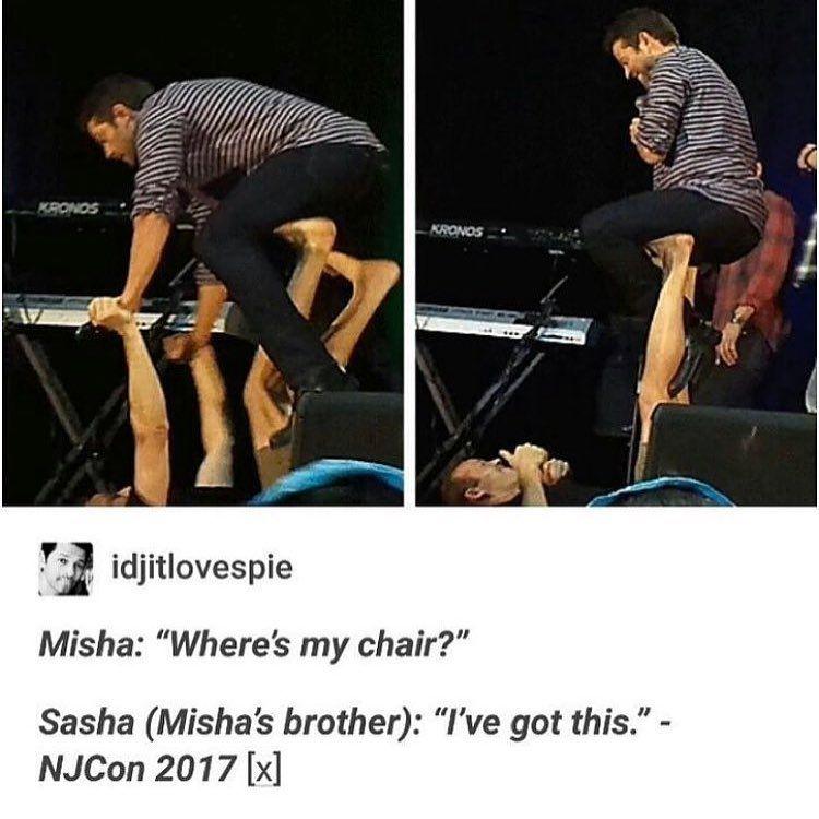 "Photo of Dee🌿 SPN🖤 on Instagram: ""Misha and Sasha will forever be #siblinggoals 😂😍 ~ ~ ~ ~ ~ ~ ~ ~ ~ ~ ~ ~ ~ #strangerthings #strangerkids #milliebobbybrown #finnwolfhard…"""