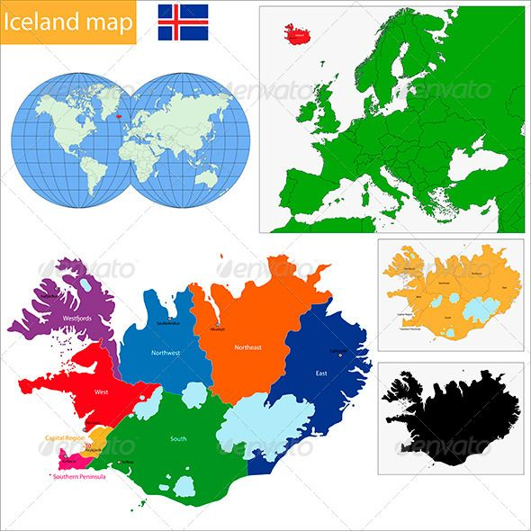 Iceland Map | Iceland, Font logo and Vector graphics