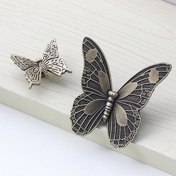 Butterfly Dresser Knob Drawer Pull Knob / Bronze Kitchen Cabinet ...