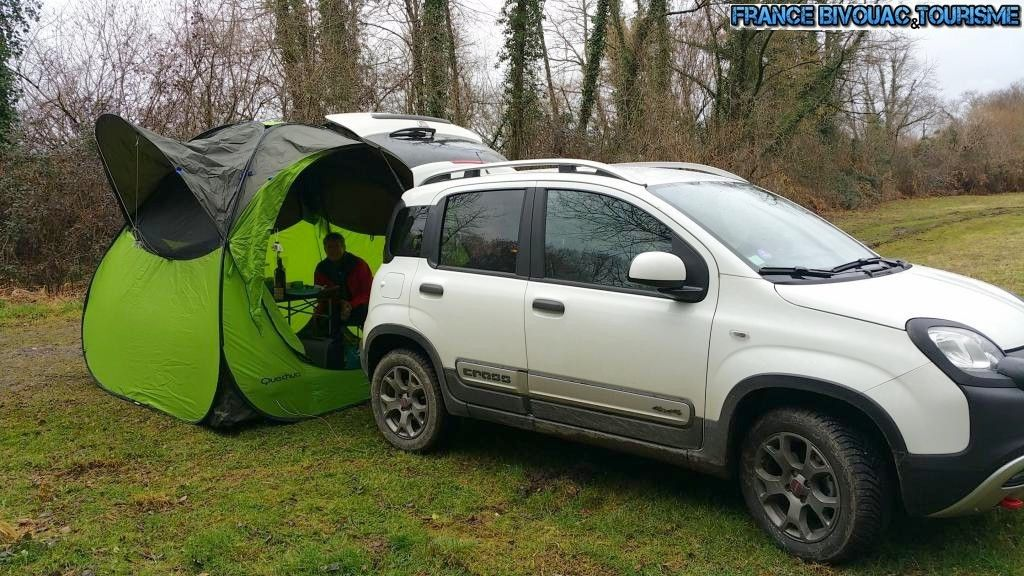 france bivouac et tourisme tente base camp d cathlon avec fiat panda cross 4x4 camping et. Black Bedroom Furniture Sets. Home Design Ideas