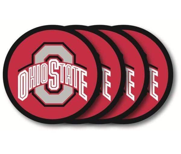 Ohio State Buckeyes Coaster Set - 4 Pack #ohiostatebuckeyes Ohio State Buckeyes Coaster Set – 4 Pack #ohiostatebuckeyes