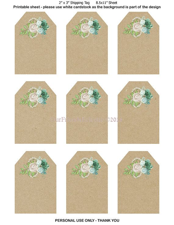 printable wedding favor tags printable tags by OurFriendsEclectic ...