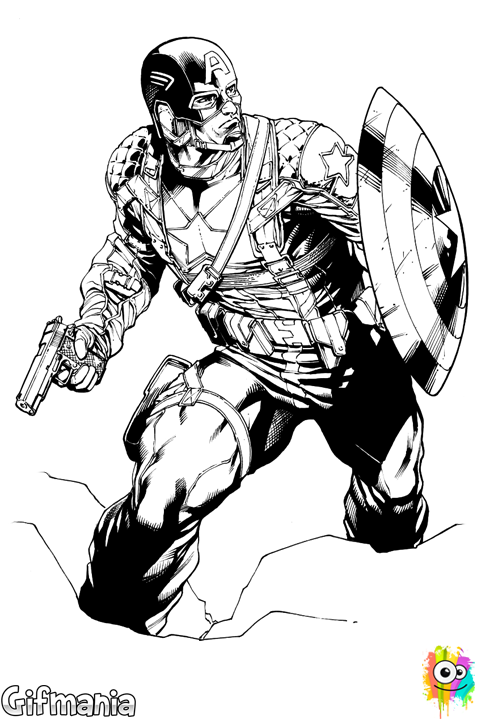 Captain America Ausmalbilder: Capitán América: El Primer Vengador