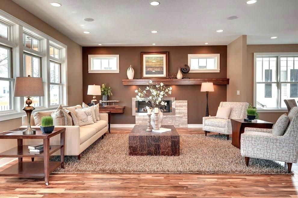 Image Result For Reddish Brown Accent Wall Accent Walls In Living Room Brown Living Room Decor Brown Accent Wall