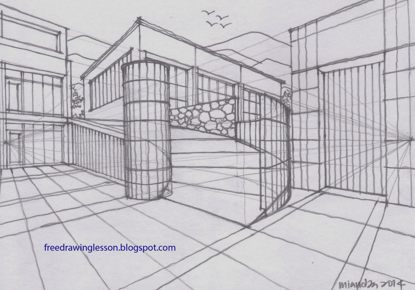 Draw Curve Ramp In Two Point Perspective
