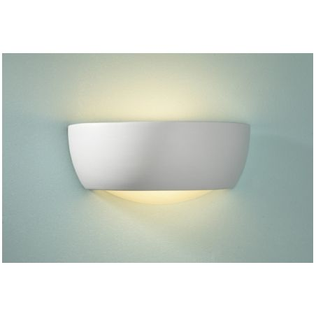 Dar dar milo 1 light modern wall light glass and satin ceramic finish small dar from ocean lighting uk