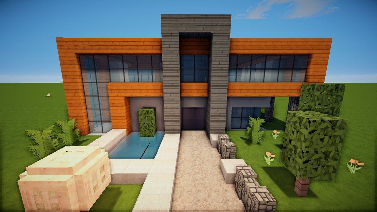 23 Tur Grosses Modernes Minecraft Haus Bauen Tutorial German