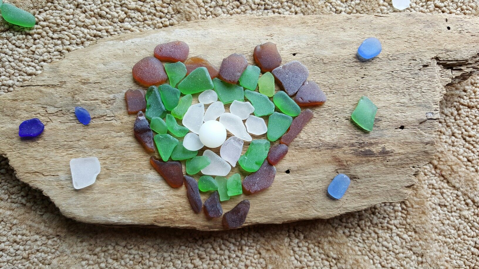 Sea glass heart for teacher appreciation week