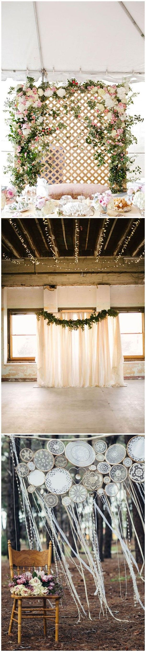 unique and breathtaking wedding backdrop ideas pinterest