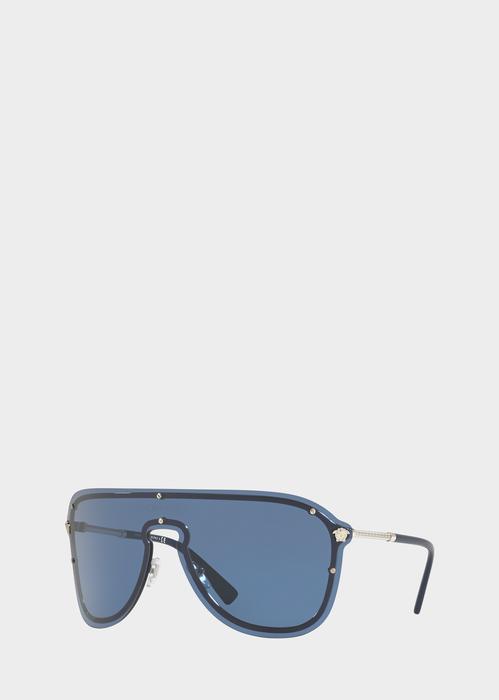 44c5cf28d915 Versace Blue  Frenergy Visor Sunglasses for Men