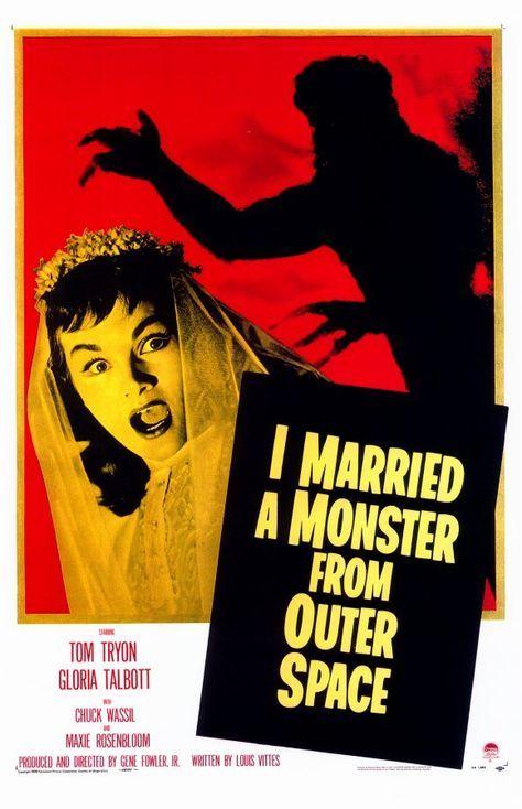 I Married A Monster From Outer Space 11x17 Movie Poster 1958 Monstruos Del Espacio Peliculas Vintage Carteles De Cine