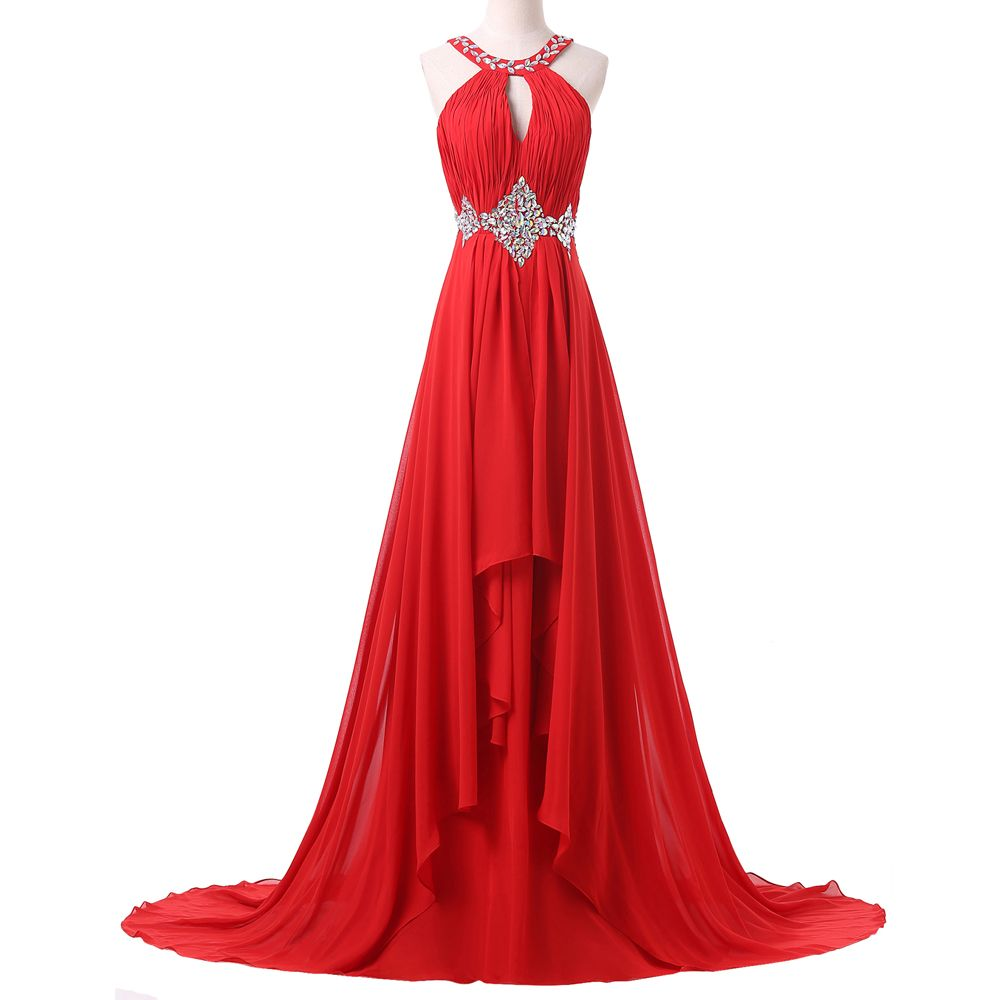 Grace karin red long evening dress new arrival women formal