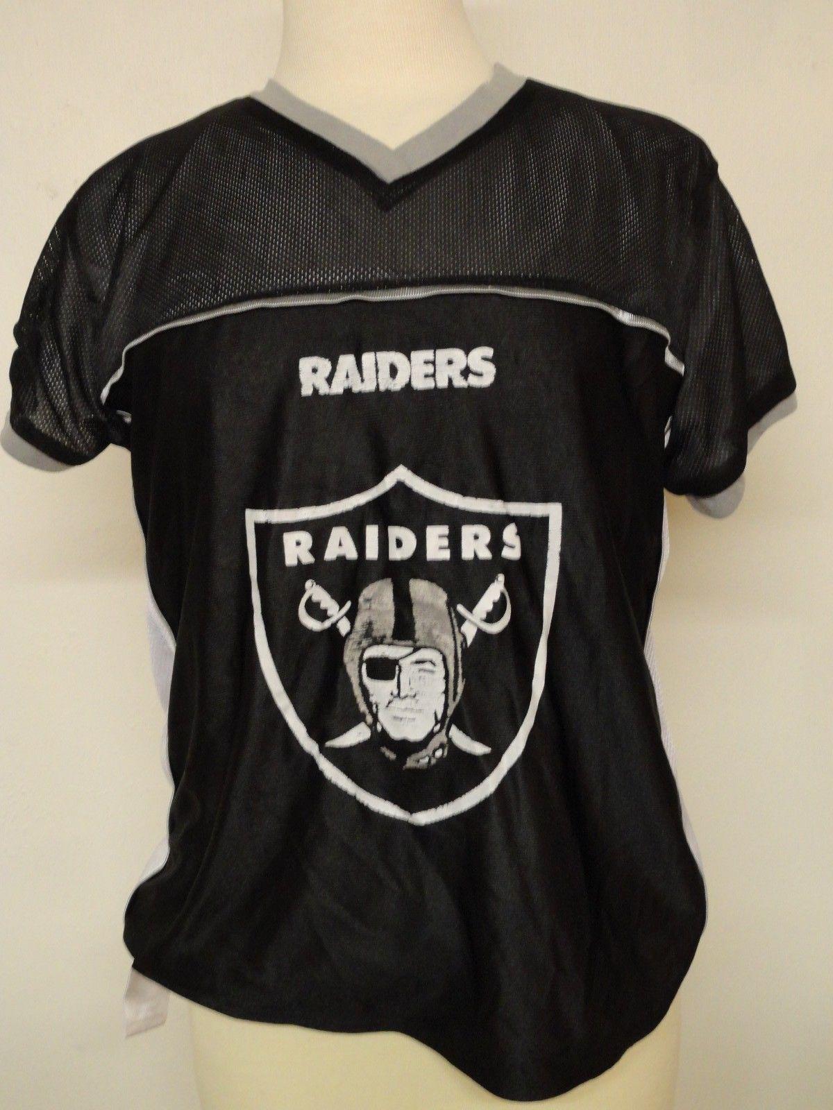 37215e3de NFL Raiders Oakland Reversible Flag Football Jersey Boys Kids Youth Size XL