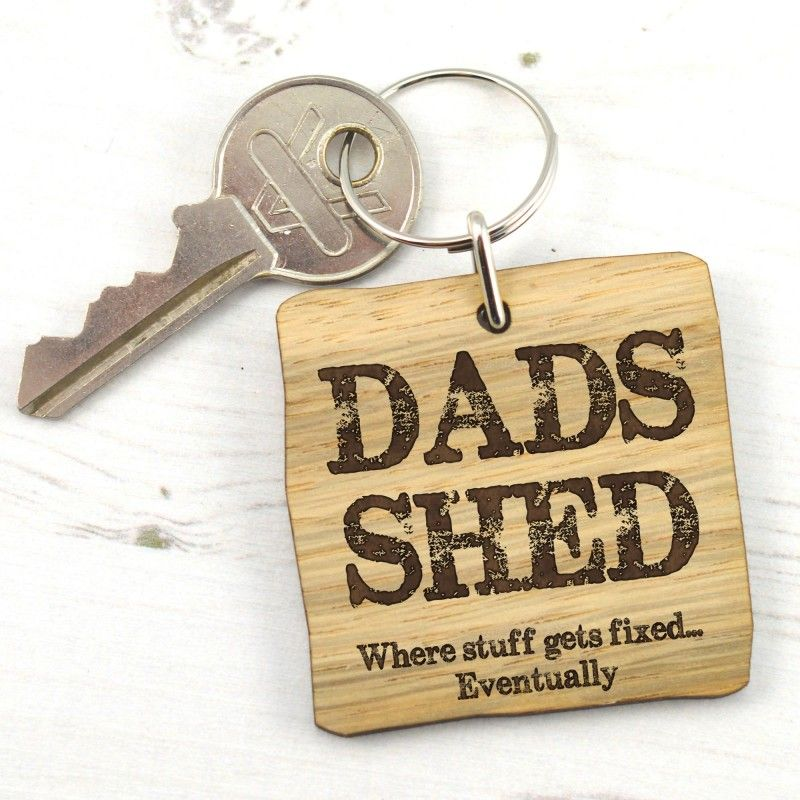 Kleidung & Accessoires Like Father Like Daughter Cute Wooden Keyring Set for Dad Daddy On Fathers Day