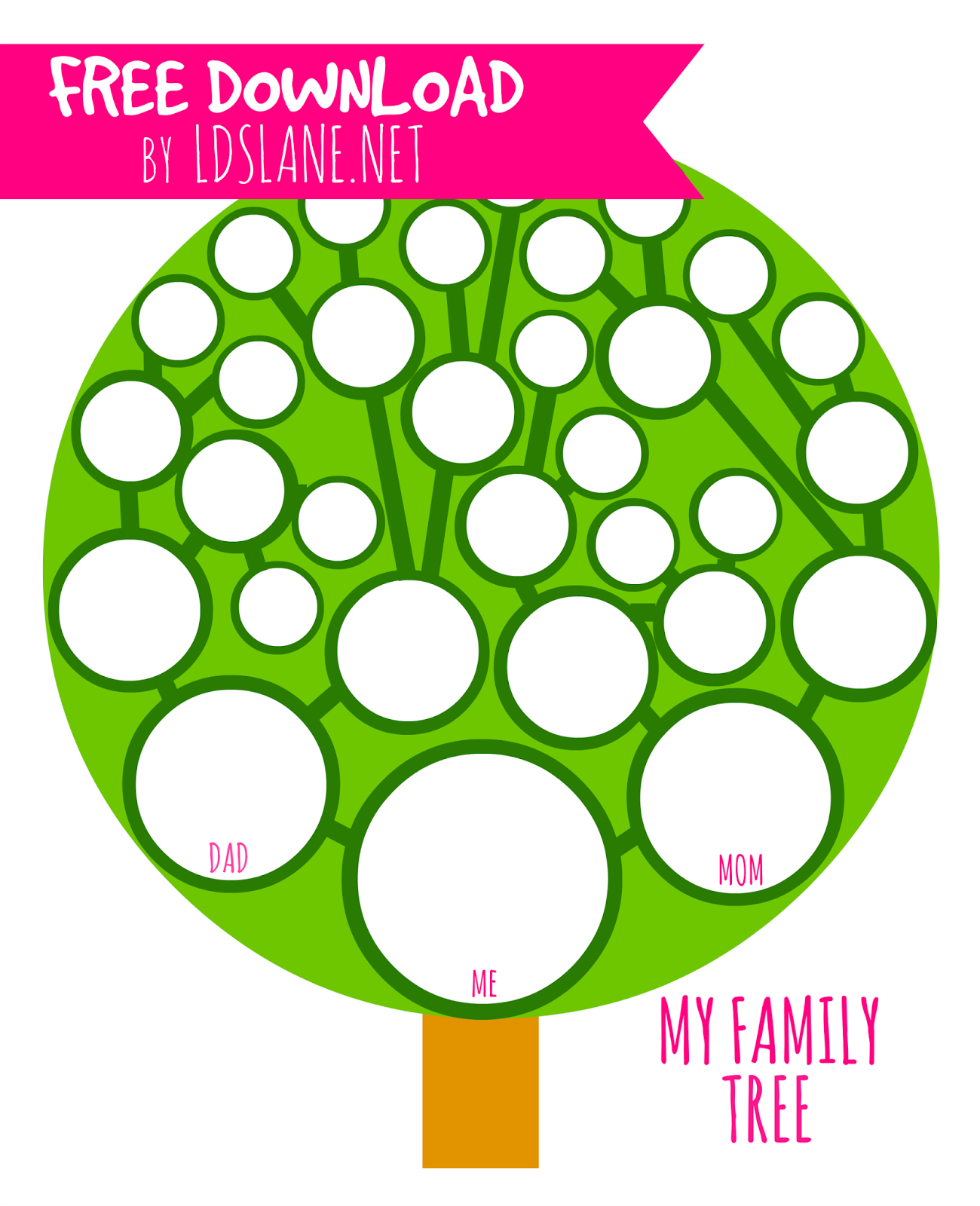 My Family Tree Printable By Ldslane To Trace The