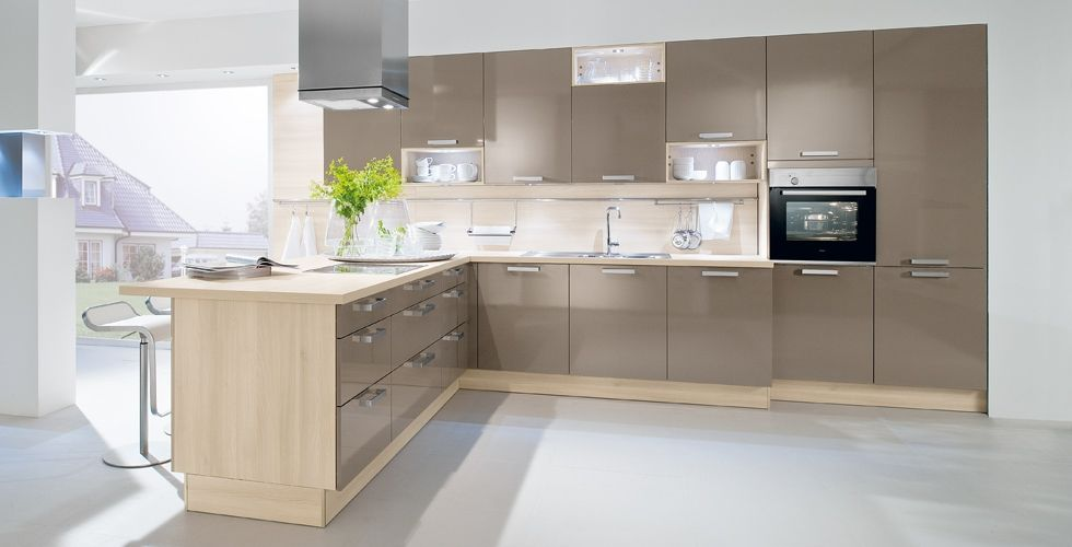 Modern Hacker German luxury kitchen in 1030 BASALT GREY. Available ...