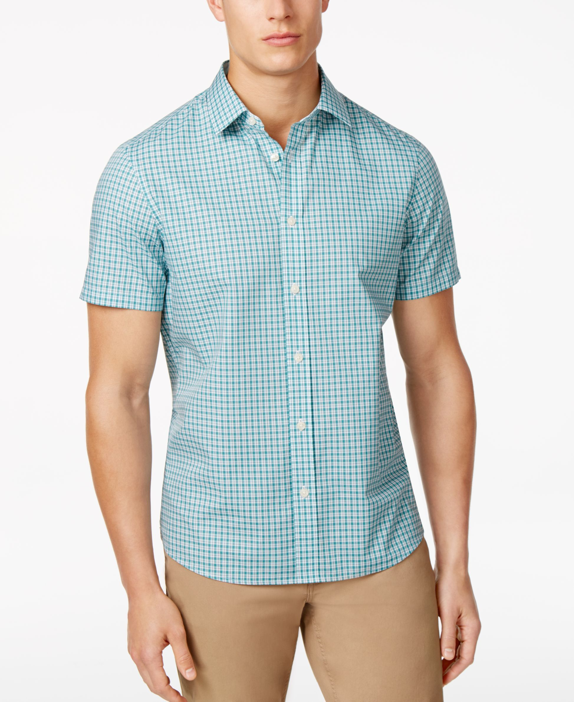 Michael Kors Men's Thompson Plaid Cotton Shirt