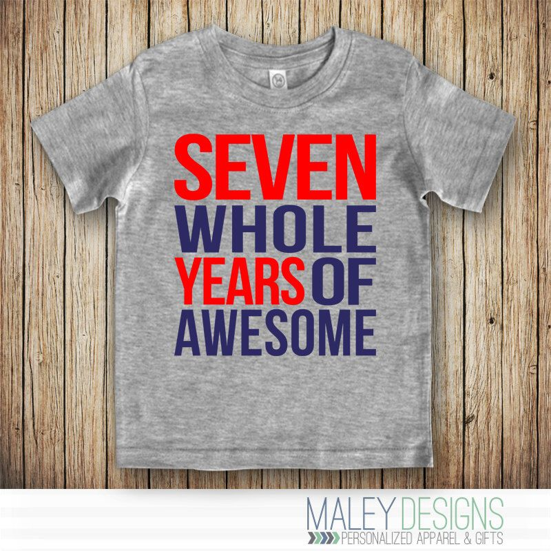 Seventh Birthday Shirt Boy 7th 7 Year Old