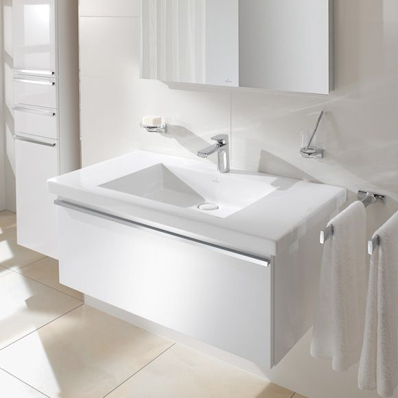 Villeroy And Boch Vanity villeroy & boch metric art vanity washbasin white with ceramicplus
