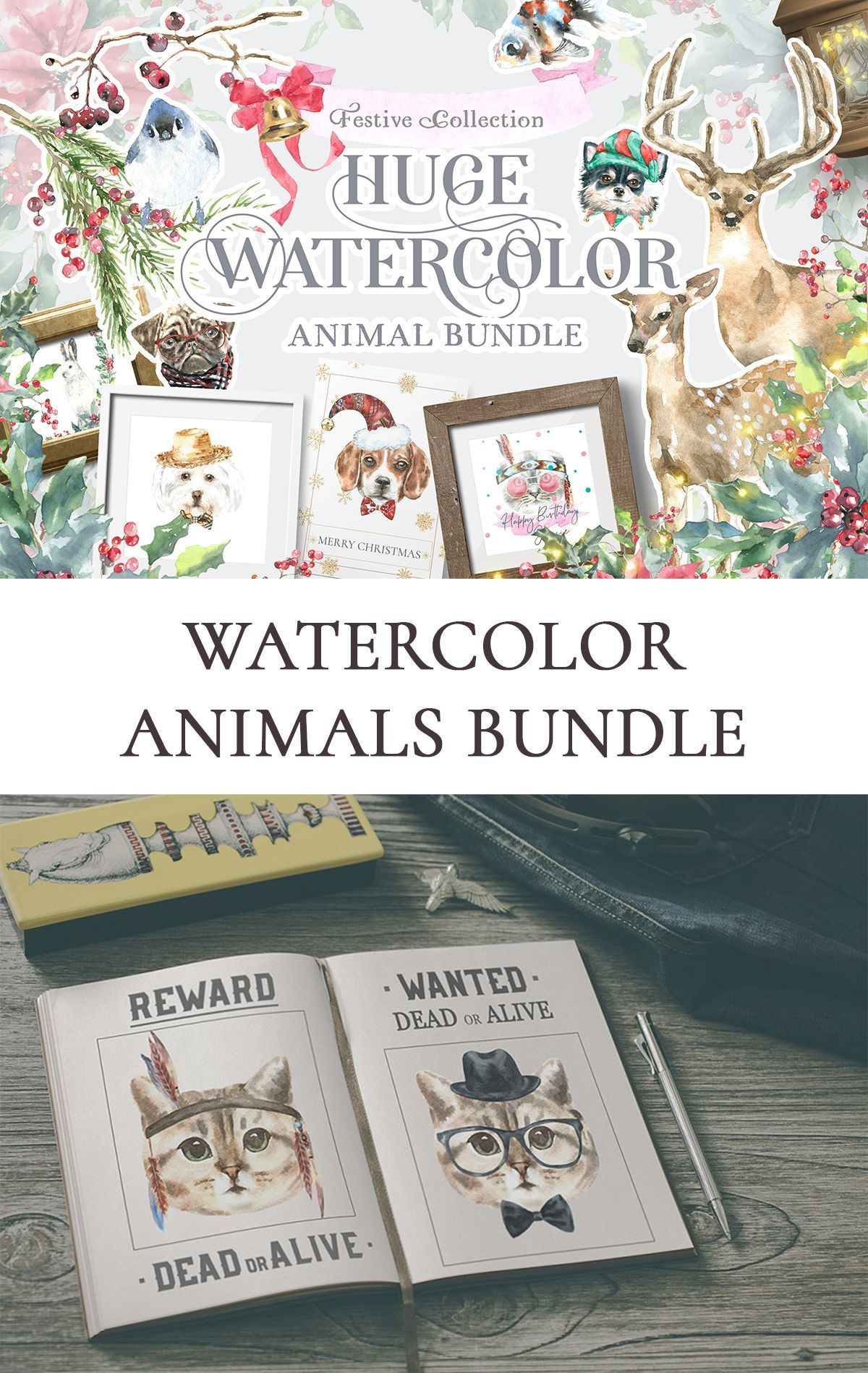 Watercolor Animals Bundle #1weihnachtstaglustig Watercolor Animals Bundle Dog Breed Clipart. woodland animals christmas animal poster,hipster dog portrait,wall art,nursery art printable Christmas projects, new year of dog design,baby shower invitation cards, vintage postcards,children clothes,nursery design, greeting cards, happy birthday, cards for your pets dogs cats happy birthday, printables, wall art, logo, invitations, gift boxes, textile, websites, festive paper christmas stickers #1weihn