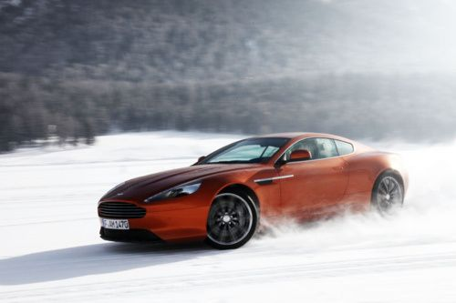 Aston in the snow