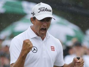 adam scott masters winner | Adam Scott celebrates big putt at US Masters (Source: Reuters)