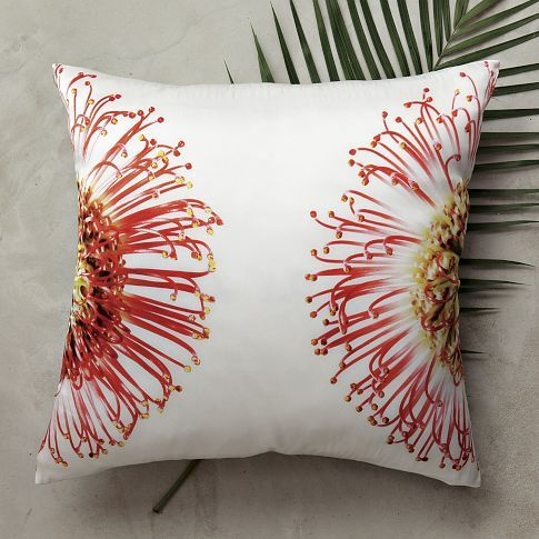 clinton friedman protea pillow cover from west elm coral. Black Bedroom Furniture Sets. Home Design Ideas