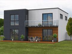 Massivhaus s d moderne fertigh user als massivhaus im for Moderner baustil einfamilienhaus