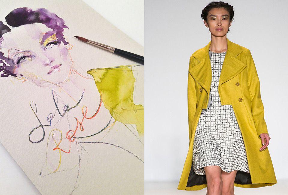 #Watercolor Fashion #Illustration by Marta Spendowska #fashionweek #lelarose #verymarta http://VeryMarta.com