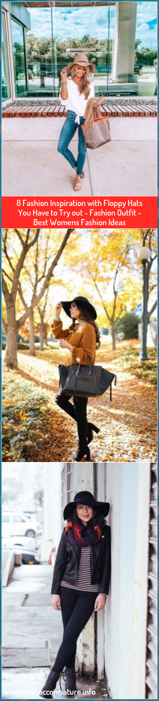 8 Fashion Inspiration with Floppy Hats You Have to Try out - Fashion Outfit - Best Womens Fashion Ideas #Fashion #Inspiration #with #Floppy #Hats #You #Have #Try #out #Fashion #Outfit #Best #Womens #Fashion #Ideas