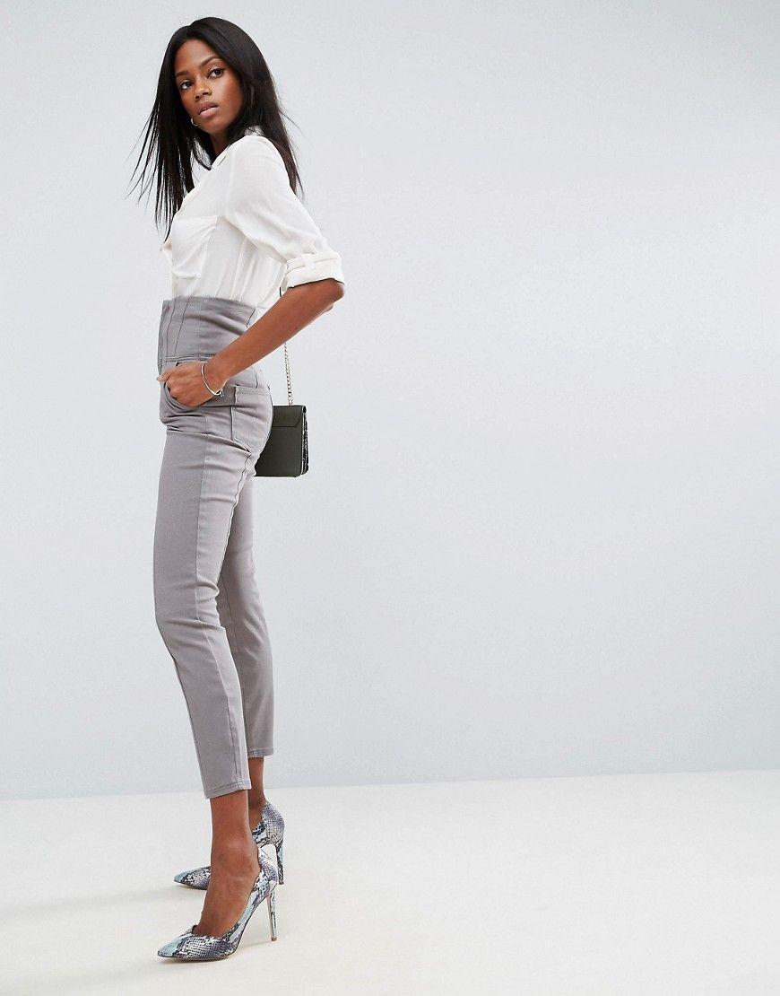New Ladies Women Adana Tie Waist Tailored Slim Fit Trouser