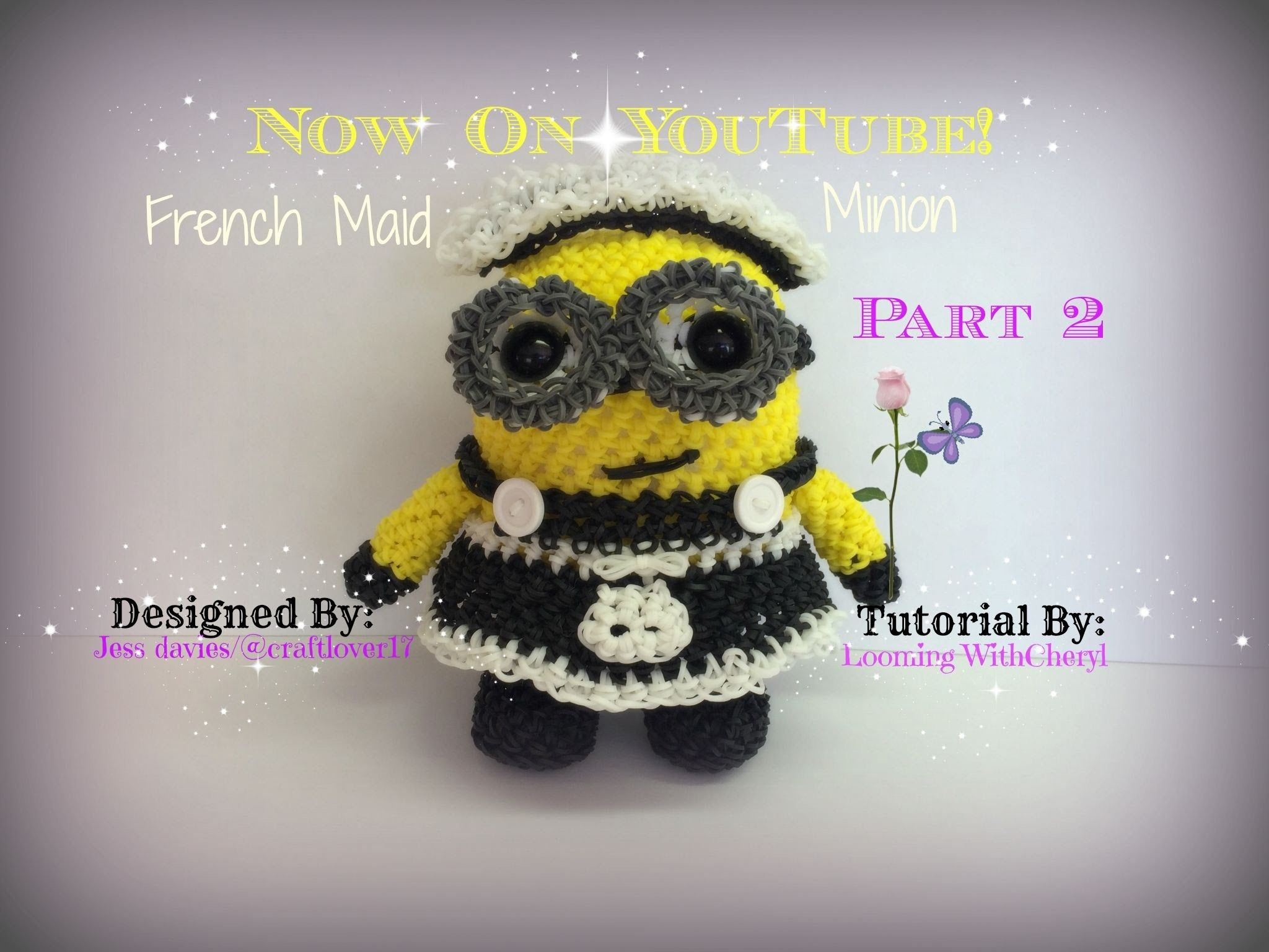 Amigurumi Loom Patterns : Rainbow loom french maid minion part 2 of 3 loomigurumi amigurumi
