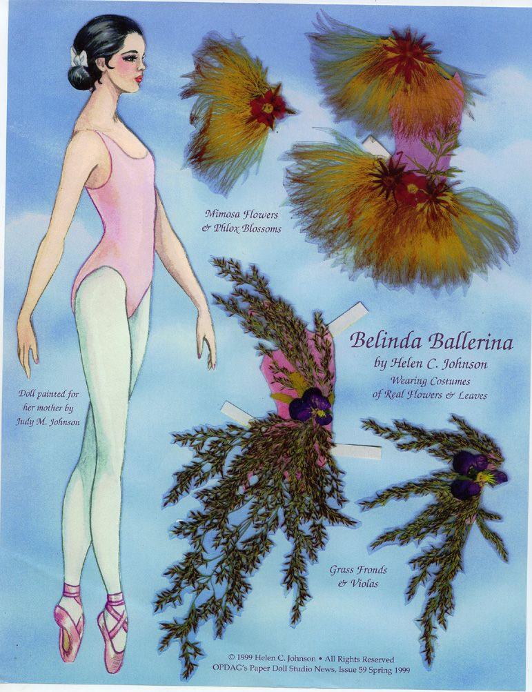 belinda ballerina a paper doll paper dolls paper dolls paper toys dolls. Black Bedroom Furniture Sets. Home Design Ideas