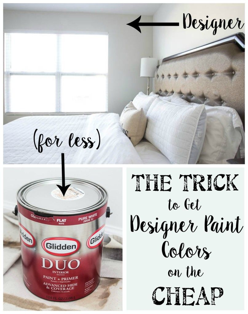 The Trick To Get Designer Paint Colors On The Cheap Home Depot