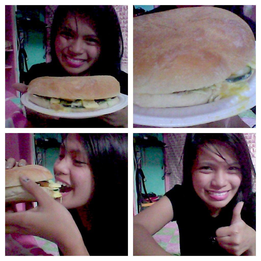 Super big burger! Yum :)