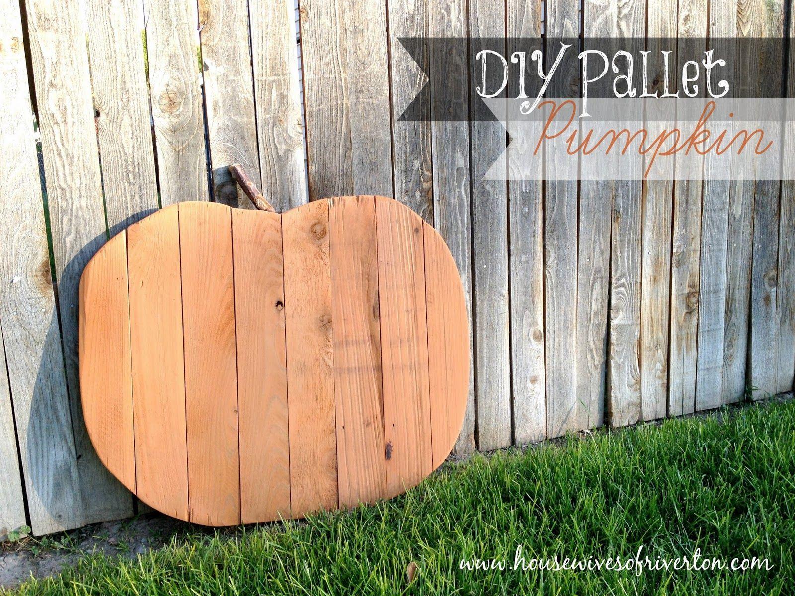 DIY Pallet Pumpkin | Pallet pumpkin, Wood pallet crafts ...