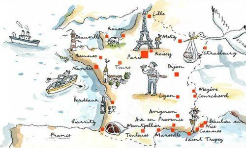 Map Of France Frankrijk Projecten