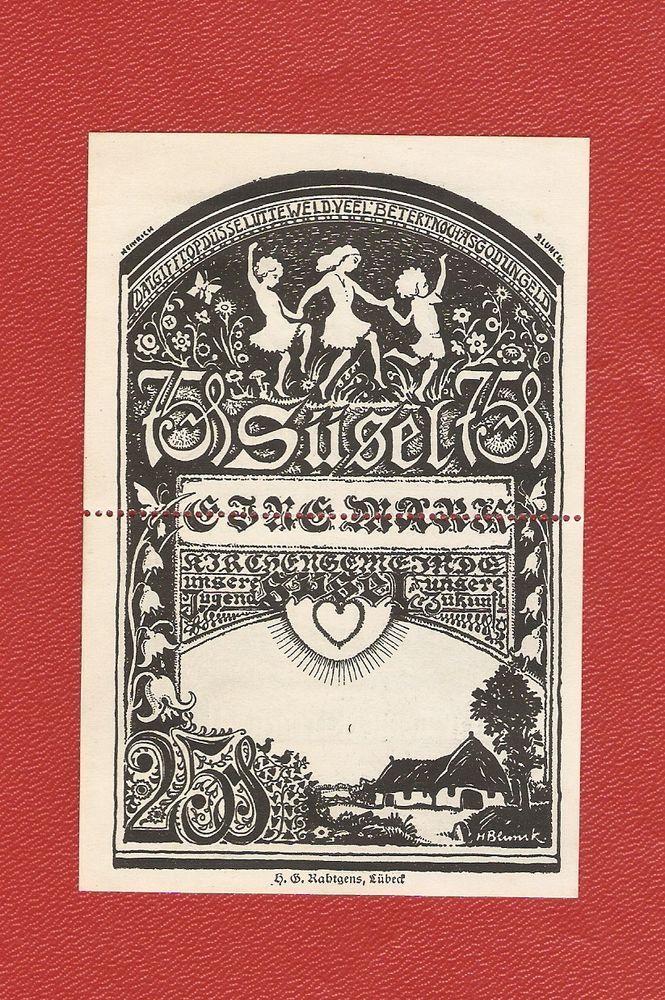 Germany Notgeld 25+75 pfennig 1 Mark 1920 Black Schleswig