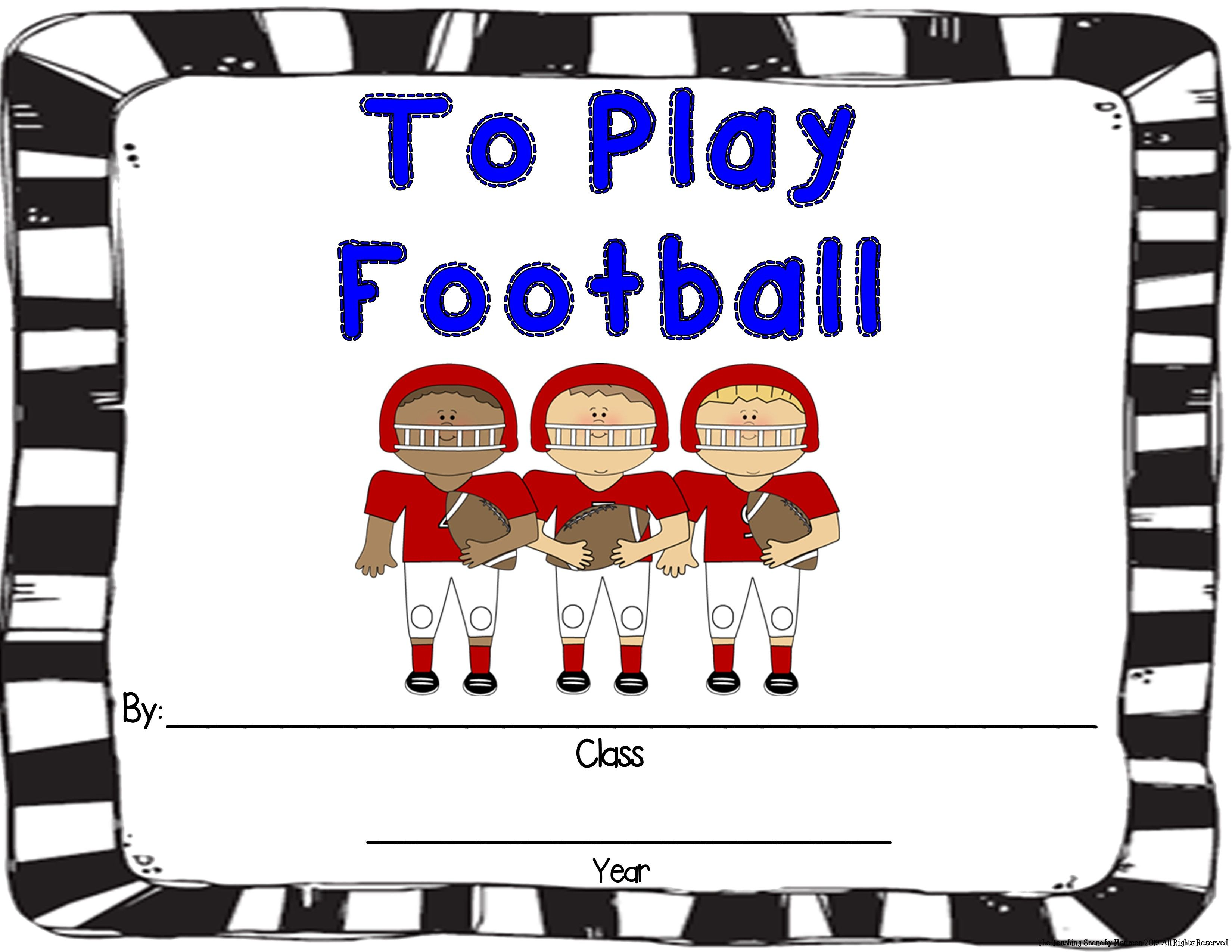Football Activities Amp Centers For K 2nd Special Education