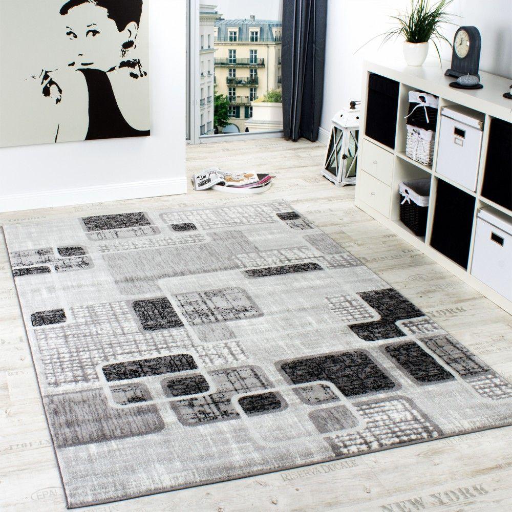 Fesselnd Designerteppich Wohnzimmer Teppich Retro Stil Shabby Chic Grau Creme  Preishammer, Grösse:60x100 Cm
