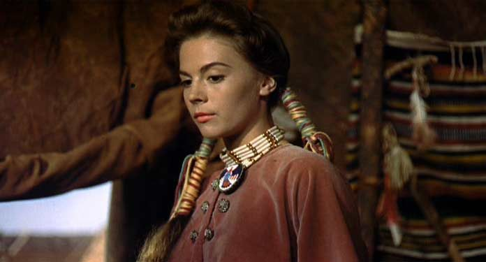 Natalie Wood in the Searchers. #feathers