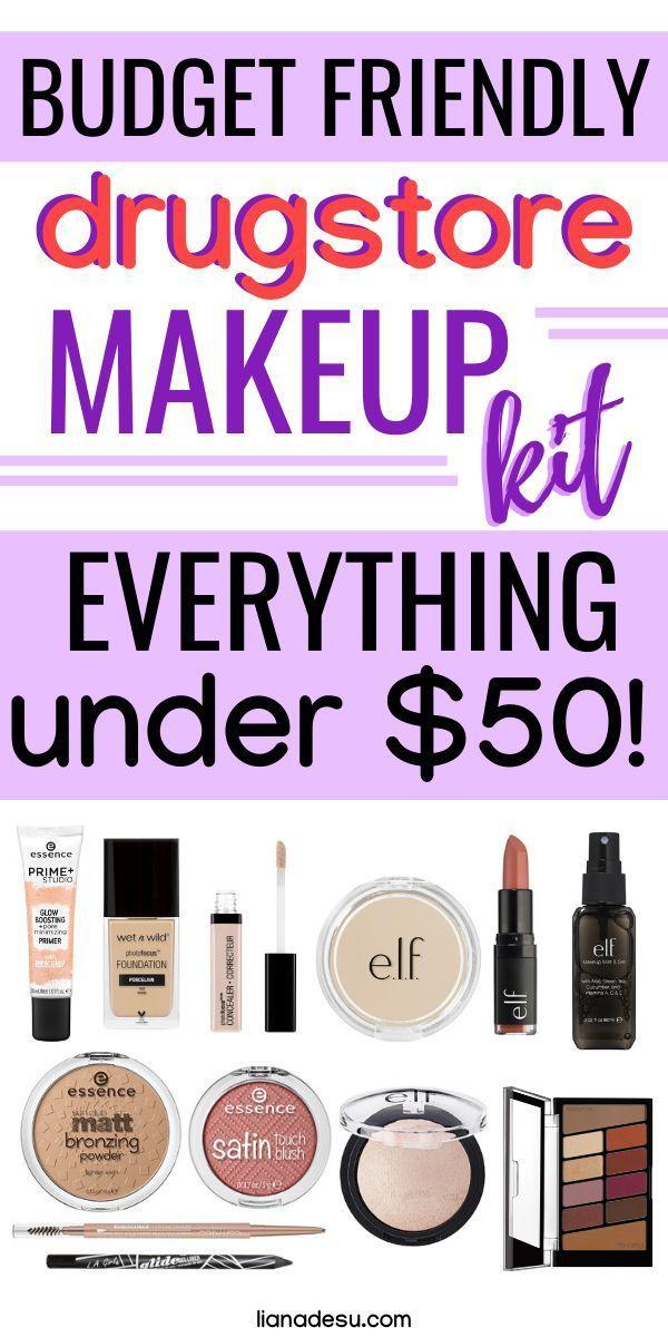 Full Face of Drugstore Makeup Kit Under 50 Drugstore