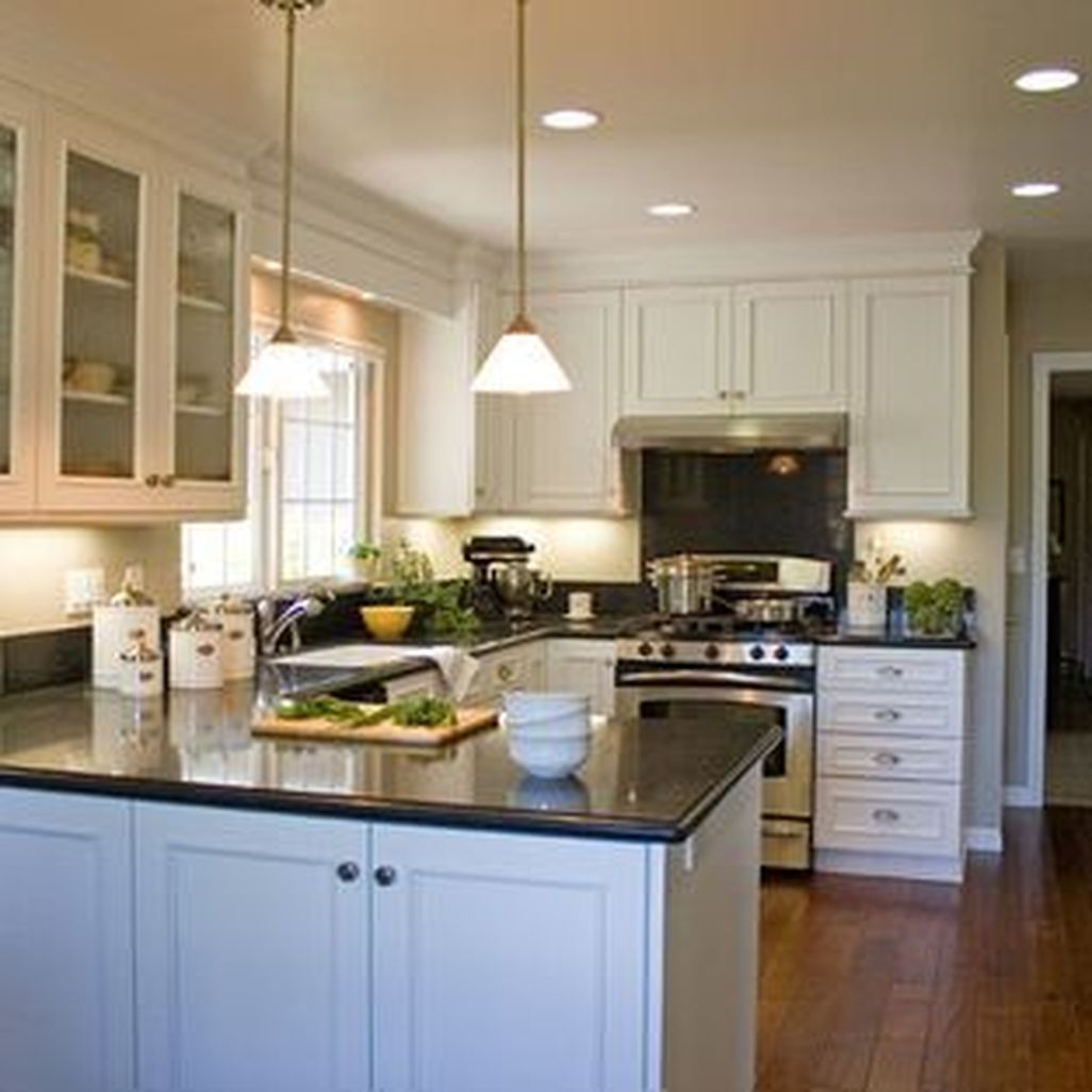 nice 40 fabulous l shaped kitchen designs with island more at http www homehihoo com 2018 08 on kitchen ideas u shaped id=11177
