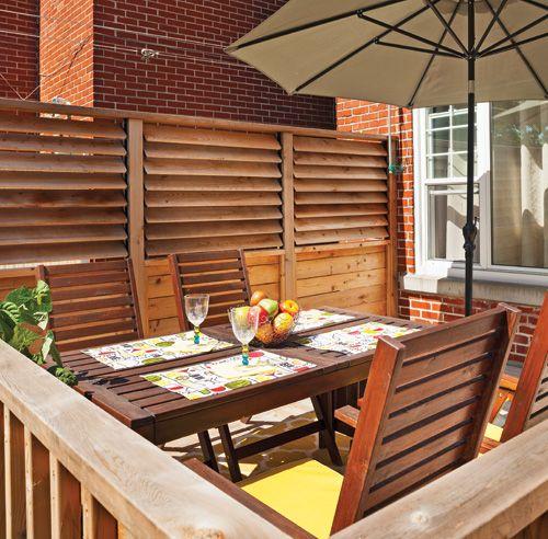 un palier bien prot g terrasse ext rieure pinterest palier patios et jardinage. Black Bedroom Furniture Sets. Home Design Ideas