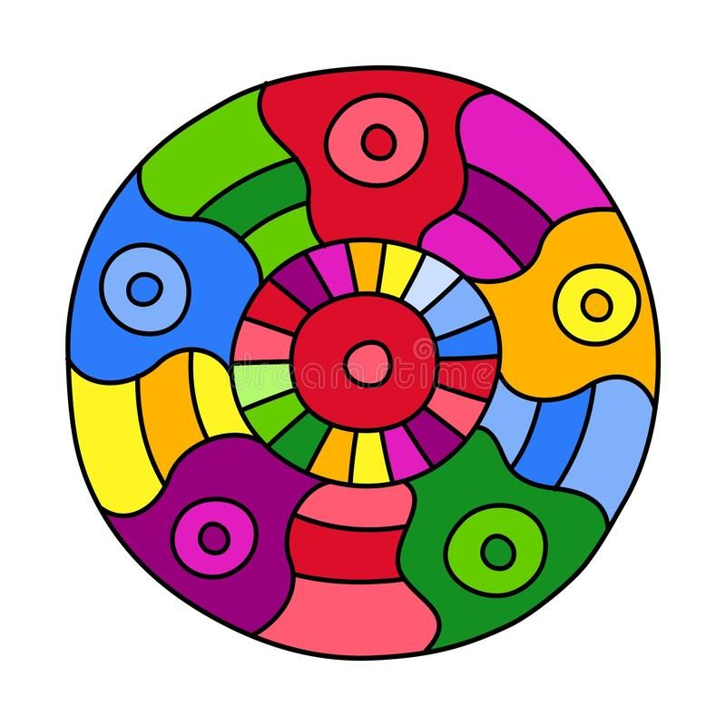 Circle Round Coloring Page Trend