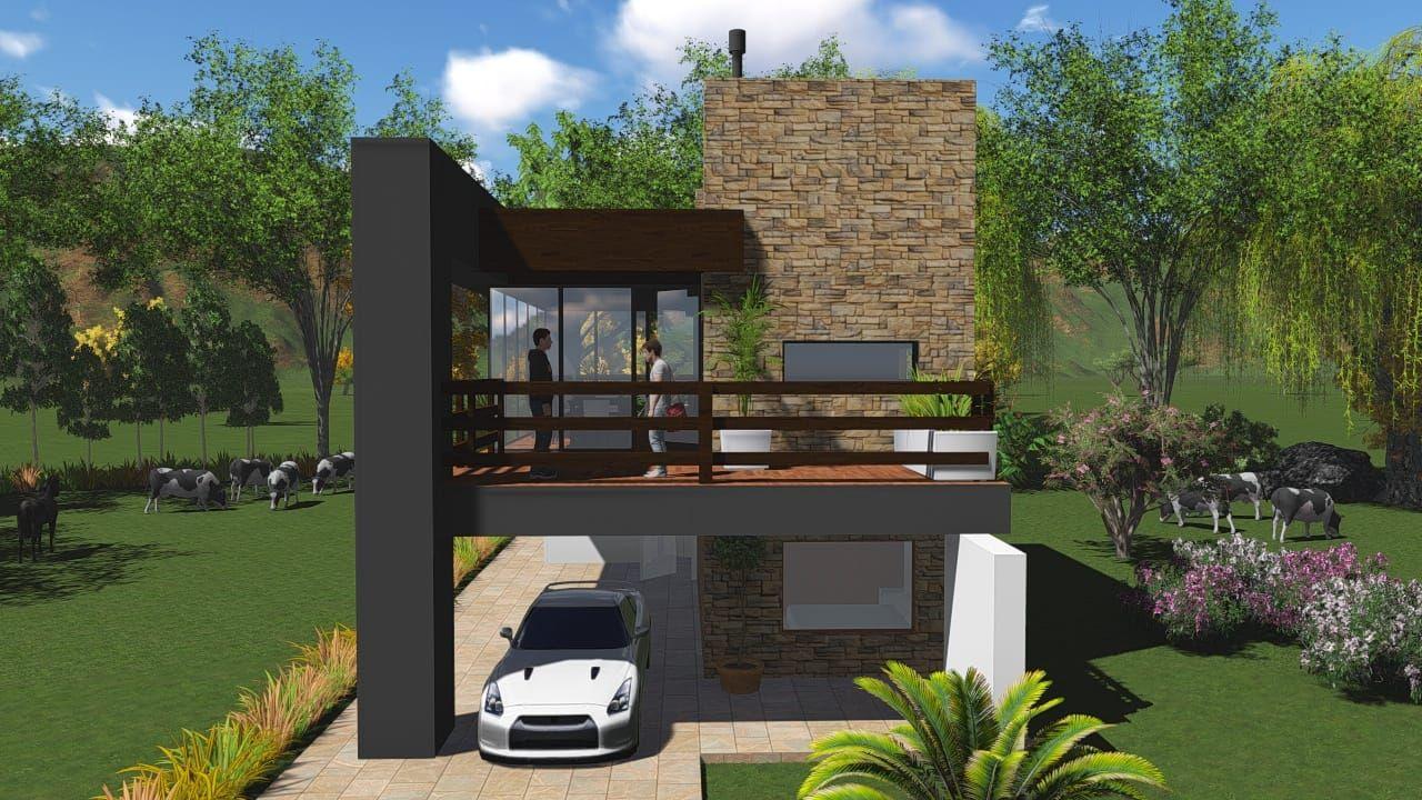 Planos de casas peque as modernas de dos pisos y de for Arquitectura de casas modernas de una planta