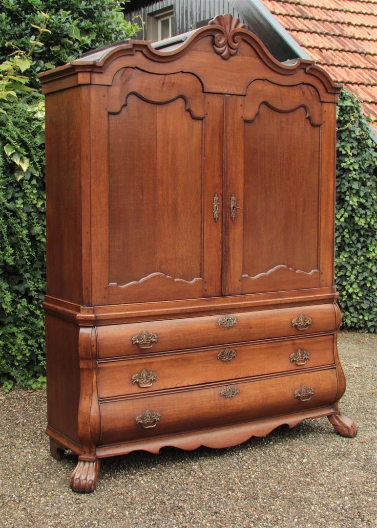 Antiker Hollandisch Kabinett Antieke Meubels Antieke Kast