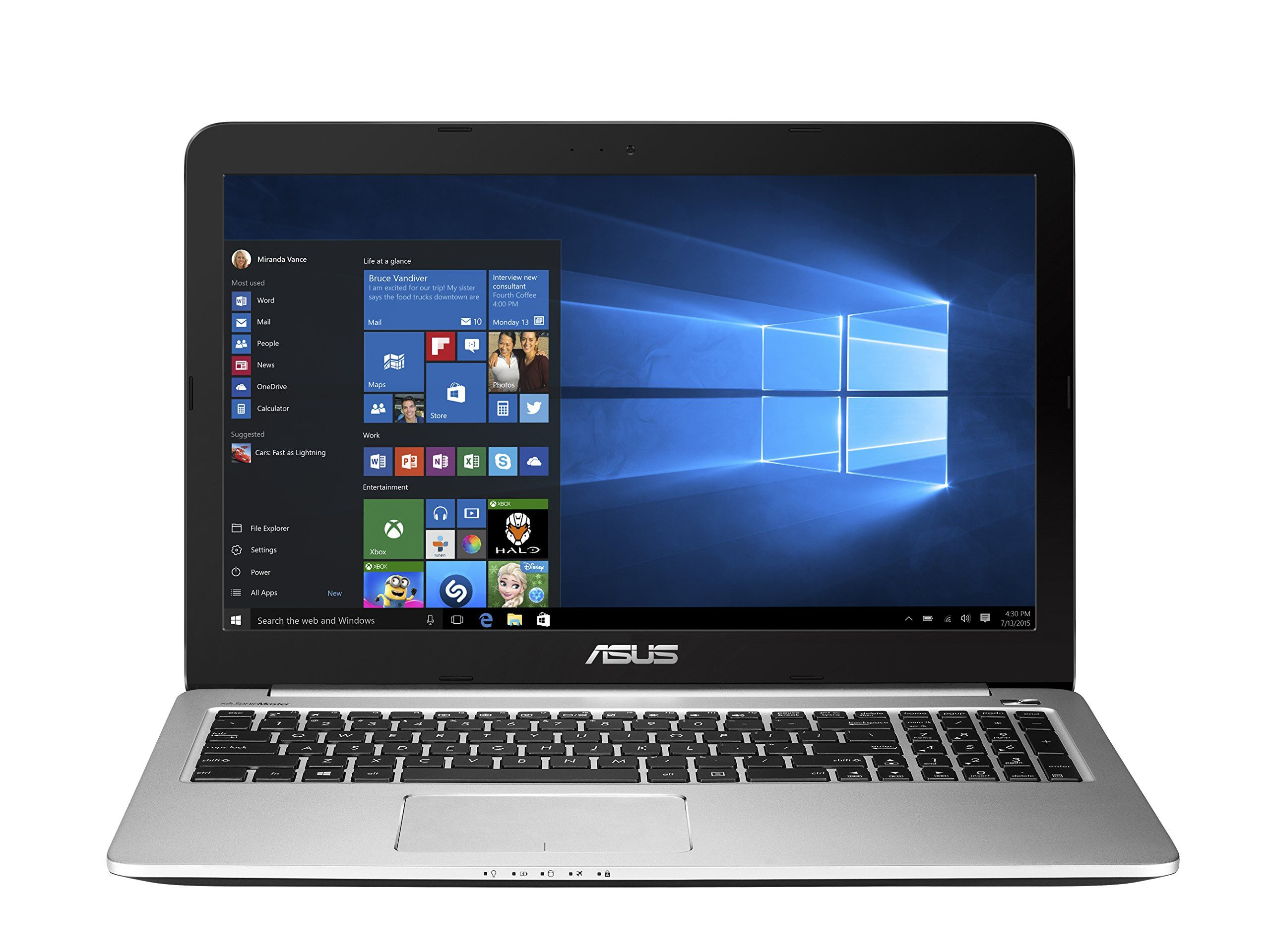 Asus K501ux 15 Inch Gaming Laptop Intel Core I7 Processor 8gb