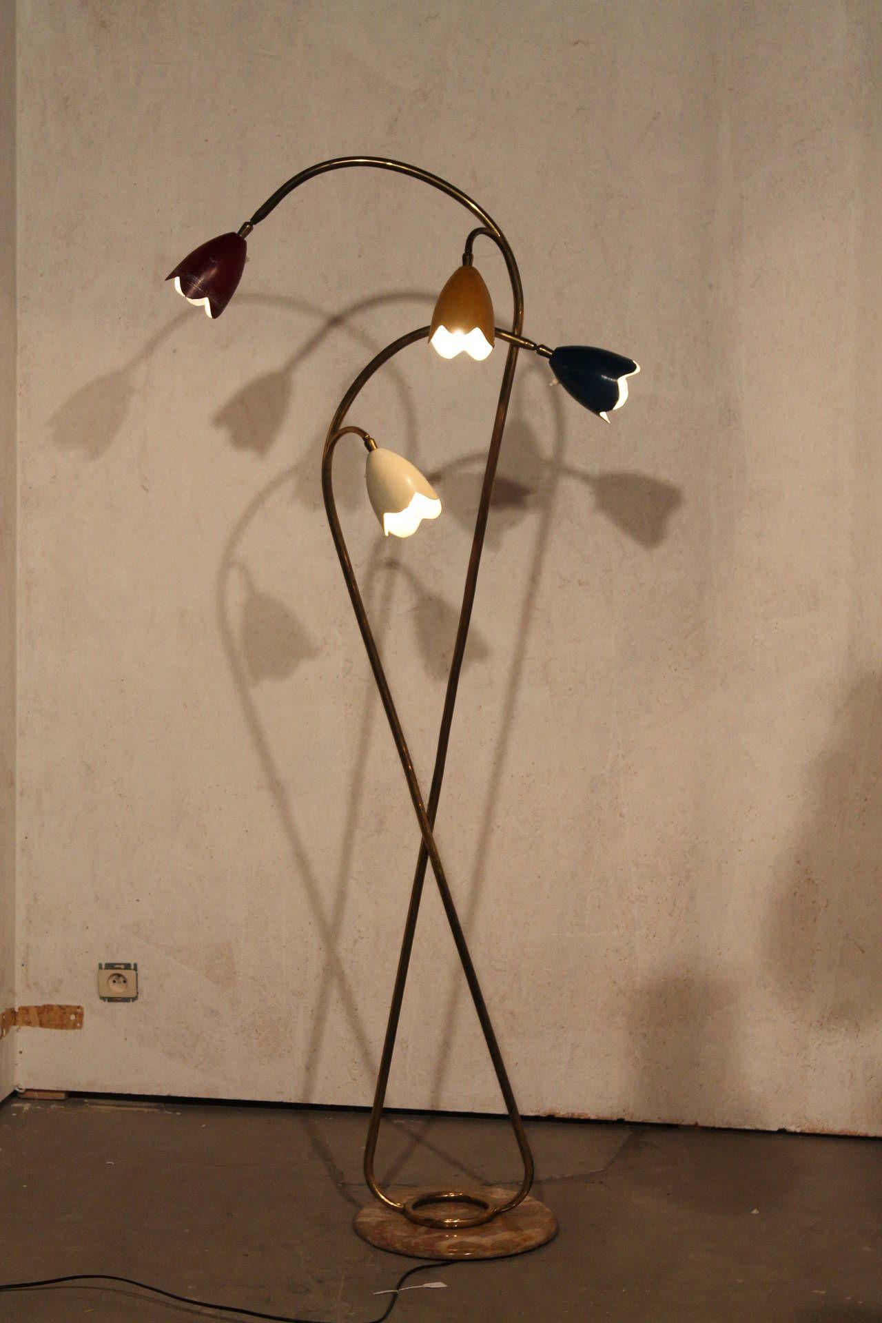 Vintage Italian Flower Floor Lamp By Stilnovo 1950s 1stdibs Com